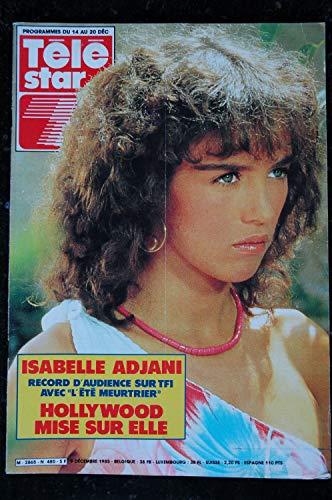 TELE STAR 480 9 décembre 1985 Cover Isabelle Adjani +4 p. - Renaud - Jane Birkin - Gérard Philippe