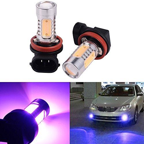 ATMOMO 2 PCS Car H8 H11 33-SMD LED Xenon Head Light Headlight Bulbs Lamp or Daytime Running Lights Lighting DRL 12V 7.5W - Purple