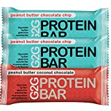 G2G Protein Bars - Meal Replacement Bar to Support Clean Eating, Gluten Free - Two Boxes of Peanut...