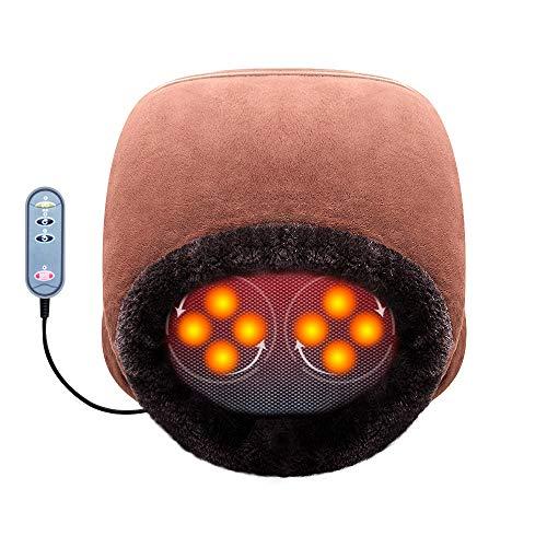 Aront Fußmassagegerät Shiatsu Elektrisch Fussmassage mit Wärmefunktion, Muttertags Geschenk, 2 in 1 Fußwärmer für Fußpflege ,Entspannung für Zuhause/Büro EU 46/US 12