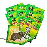 XH Trampa de Pegamento para ratón Uso Interior para Ratas, Ratones e Insectos (Paquete de 10) (Color : Green, Size : 30 * 20.5cm)