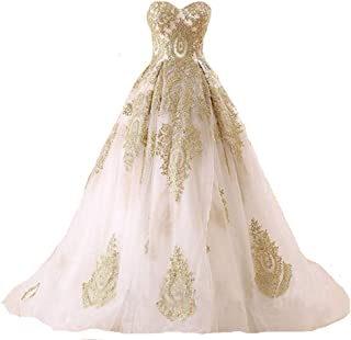 Kivary Lace Ball Gown Long Corset Sweetheart Tulle Prom Wedding Evening Dresses