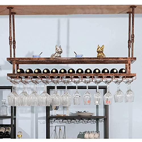 FBBSZSD Estantes para Vino Organizador Estante para Vino Bar Estante para vinos Mostrador para Bar Estante para Copas Estante para Copas de Vino para Colgar Estante al revés para Bares, re