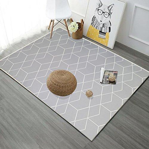 QIAO Nordic geometrische bedrukte woonkamer decoreren tapijten salontafel antislip deur pads vloer matten