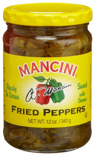 Mancini Fried Peppers with Onion, 12-Ounce Glass Jars (Pack of 12)