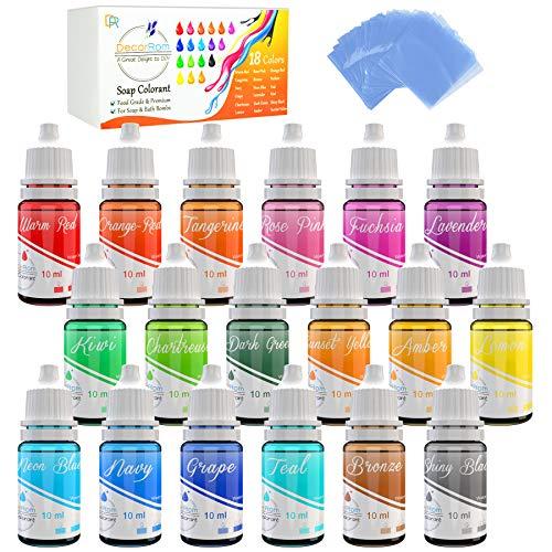 DecorRom 18 Color Bath Bomb Soap Dye...