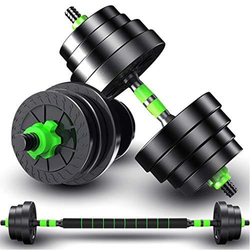 2IN1 Kit Mancuernas Musculacion Grandes Mancuernas, Pesas Ajustables,para Entrenar en el Gimnasio y en casa 10kg/22lbs