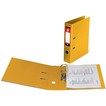Pack of 10 Yellow Loer /& Schafer A4 Value Lever Arch File