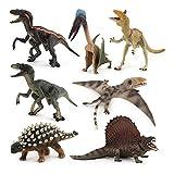 7Pcs/ Set Kid's Dinosaur Toy PterosaurAnkylosaurusCryolophosaurusPlastic Model Play Toys World Park Dinosaur Toy para Niño Regalo De Cumpleaños 14-23Cm