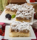 Dulcet Original Old Fashioned Crumb Cake Gourmet Gift Basket, incudes 2 boxes of 8 X 8 Crumb Cakes,...
