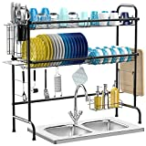 Over The Sink Dish Drying Rack, iSPECLE 2-Tier Premium 201...