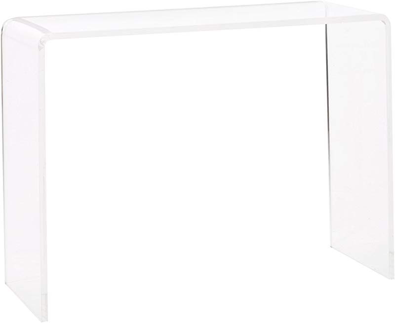 Pure Dcor ACR T07 IL Pure Decor Acrylic Console Table 29hx38wx15 Clear
