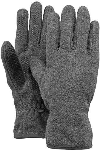 Barts Fleece Gants, Gris (0002/Heather Grey 002b), Taille Unique Mixte