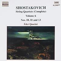 Shostakovich: String Quartets Nos. 10, 11 & 13 (Complete Edition, Vol. 6) (2000-10-05)
