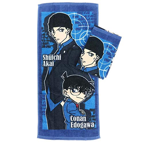 名探偵コナン[フェイスタオル]シャーリング ロングタオル 2枚セット/クールペア