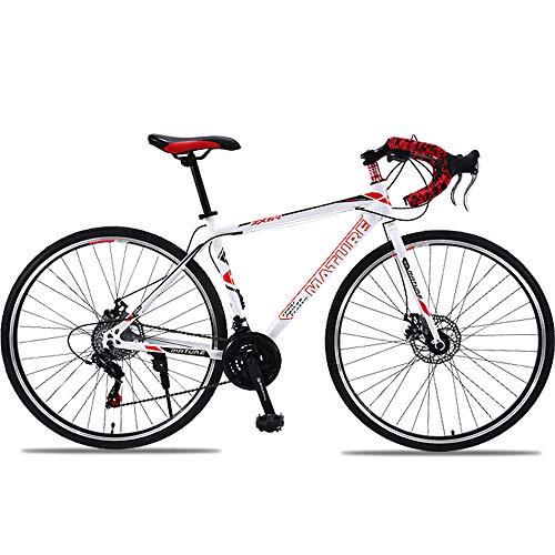 H-LML Carreras de Bicicleta de Carretera 27/30 de Velocidad Manija Recta Frenos...