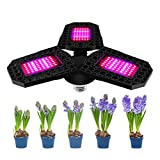 Ouskau - Lámpara de crecimiento para plantas (plegable, LED, 360°, ajustable para plantas de hidropónicas Veg, flores de cultivo de jardín)
