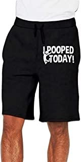 I Pooped Today Mens Cotton Loose-Fit Sports Jersey Short Pants