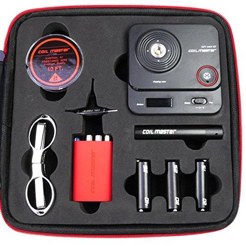Coil Master DIY Kit V3 komplettes Werkzeug und Zubehör zum Selbstwickeln für e-Zigarette, mit 521 Tab Mini, 1 Stück
