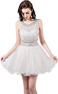 white two piece prom dress cheap
