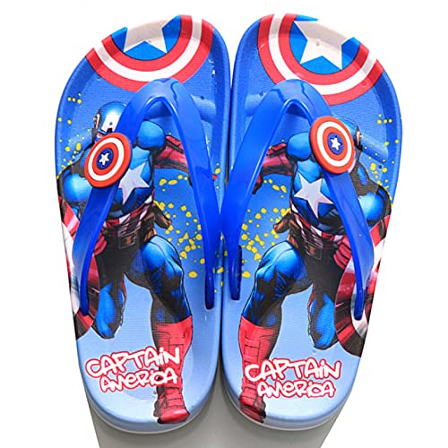 MODRYER Boys Spiderman Flip Flops Kids Captain America Sliders Summer Hulk Sandals Sandals Poil Zapatos Playa Llena Antideslizante Zapatillas,Captain America A-35/inside Length 22cm