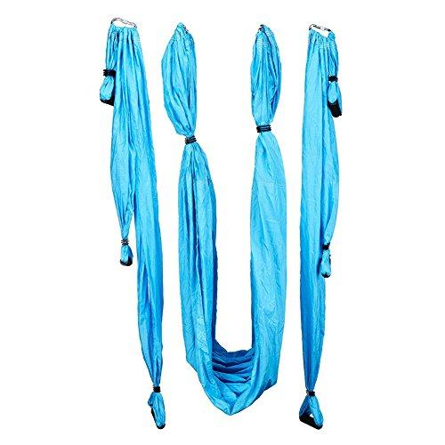 SUNERLORY - Hamaca de nailon para yoga (azul zafiro), No nulo, azul celeste