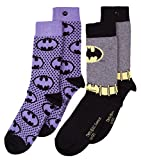 U Wear Ltd Womens 2pk Batman Logo Socks