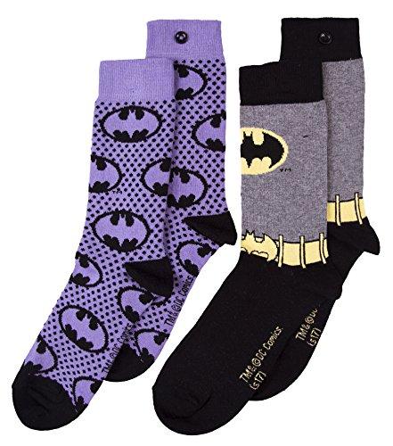 U Wear Ltd Womens 2pk Batman Logo Socks