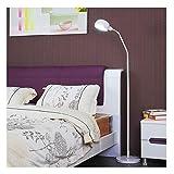 DONGYANG-Lámparas- * Lámpara de pie Metal LED Protección de ojos Lámpara de lectura Sala de estar Dormitorio Dormitorio Café Creativo Vertical Piano Lámpara (Color: A, Edición: 7 vatios Luz cálida)