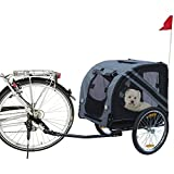Karlie 31605 Doggy Liner Economy Remolque para Bicicleta, 125 x 95 x 72 cm, Gris y Negro