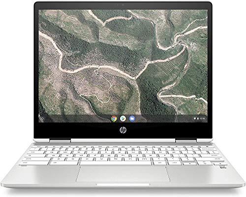 HP X360 12' HD+ WLED-Backlit Touchscreen Chromebook, Intel Celeron N4000 Up to 2.6GHz, 4GB DDR4, 32GB eMMC, WiFi, Bluetooth, Webcam, Media Card Reader, USB 3.1-C, Chrome OS, 32GB ABYS MicroSD Card