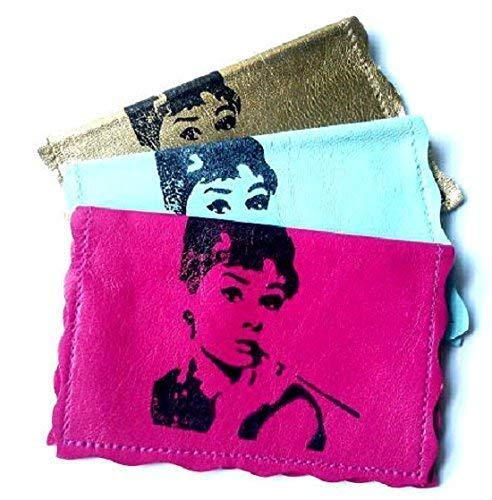 Audrey Hepburn Print Leather Holder We OFFer Discount is also underway at cheap prices Business Card Credit