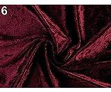 1m 6 (16) Rosa-lila-Elastische Samt Stoff Glänzend, Stoffe
