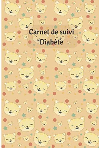 Carnet de suivi diabète : chaton: Carnet de suivi glycémie sur 53 semaines – chaton - journal - notebook – 108 pages -