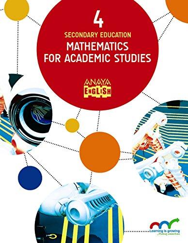 Mathematics for Academic Studies 4. (Anaya English)