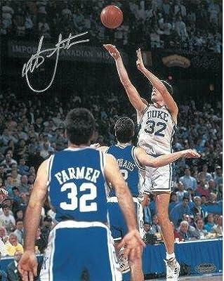 Christian Laettner Autographed Photograph - Vertical 16x20 1992 The Shot vs Kentucky Buzzer Beater Hologram - Steiner Sports Certified
