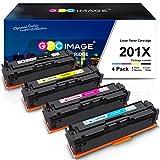 GPC Image Compatible Toner Cartridge Replacement for HP 201X 201A CF400X CF401X CF402X CF403X CF400A Toner to use with Color Laserjet Pro MFP M277dw M252dw M277n M252n MFP M277c6 Printer Ink (4-Pack)