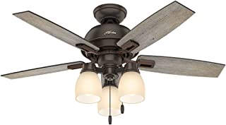 Hunter Indoor Ceiling Fan, with pull chain control - Donegan 44 inch, Onyx Bengal, 52228