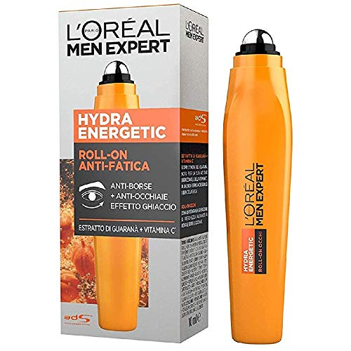 L'Oréal Paris Men Expert Hydra Energetic, Roll-On Occhi...