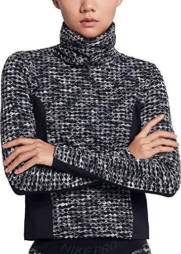 Nike Women s Pro Hyperwarm Pullover, Black, Small
