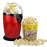 leogreen - appareil à popcorn eléctrique, eclateur de maïs, rouge, dimensions: 30,5 x 17 x 16,3 cm,