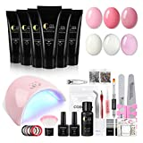Best Nail Kits - Poly Gel Nail kit with Led Lamp 36W Review