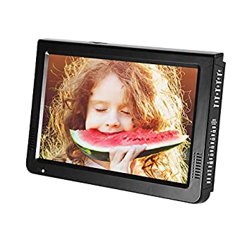 10 inch Portable TV ATSC Digital Television 16 9 TFT LED 1080P HDMI Video Player with USB/TF Card Slot Built-in Rechargeable Battery for Home Car Outdoor Travel  01