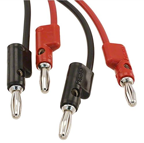 24 Length Pomona 1167-24 Double Banana Plug on Shielded Balanced Line Patch Cable Pack of 2