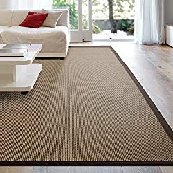 sisal rug with brown canvas border