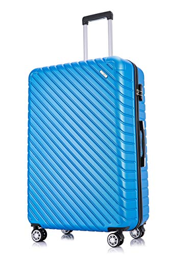 Flymax 29' Large Suitcases on 4 Wheels Lightweight Hard Shell Luggage Durable Check in Hold Luggage Built-in 3 Digit Combination Royal