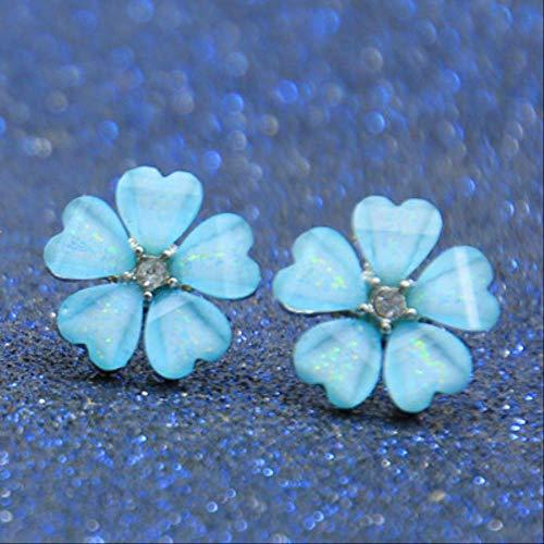 Oor manchetten voor vrouwen stijl bloem oorbellen voor vrouwen zoete oorbellen Femme sieradenLake Blue 2