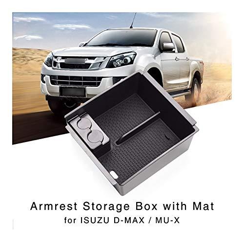 Happy Shop Armlehne Aufbewahrungsbox Armlehne Aufbewahrungsbehälter for Isuzu D-Max MU-X 2012-2018 Innen Organizer Central Console Glove-Halter-Behälter Innere