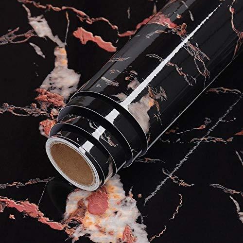 Adhesión a la autoadhesión de mármol a prueba de agua y a prueba de aceite-Oro negro_60x100cm