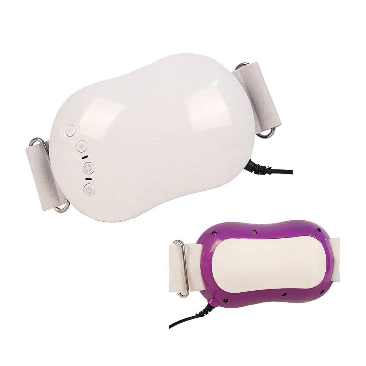 牛補体マイクロウエストマッサージベルト、ボディ痩身マッサージャー電気バイブレーター体脂肪バーナー腹脂肪燃焼マッサージデバイス,Purple